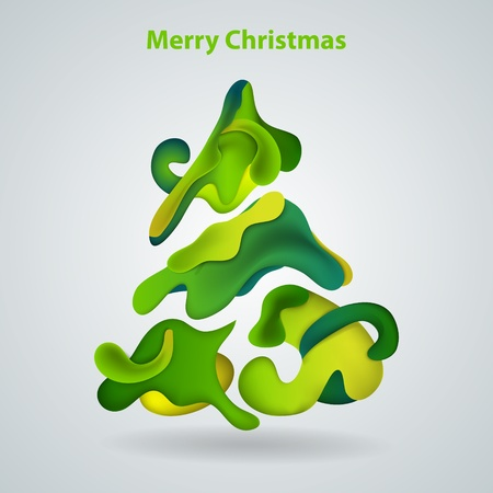 Vector abstract christmas tree Vector