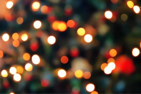 Unfocused Christmas tree photo photo