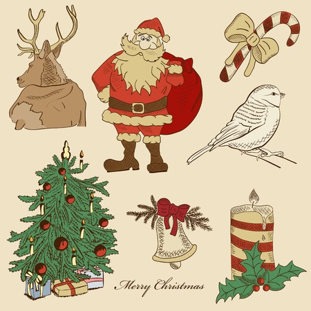 Vector hand drawn xmas set Stock Vector - 11577841