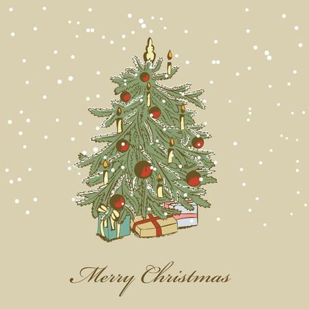 Hand drawn christmas tree Stock Vector - 11663105