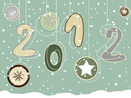 New year 2012 greeting card Stock Vector - 11663101
