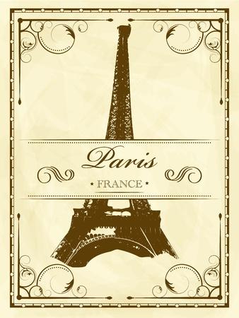 paris vintage: Vector vintage de París Vectores
