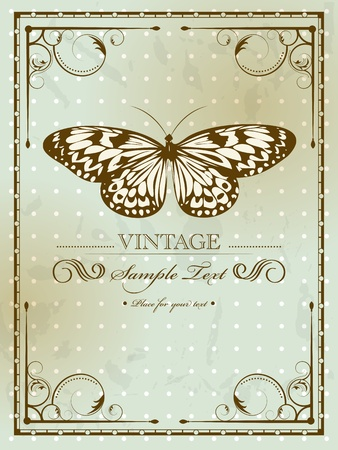 Vintage card with butterfly Stock Vector - 11890478