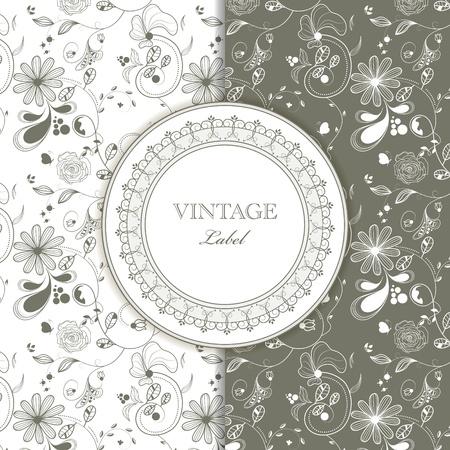 Vector vintage pattern for  invitation Vector