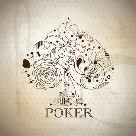Vintage poker pattern Stock Vector - 11890480