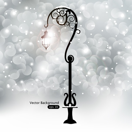 vector lamp: Vector picture with street lamp