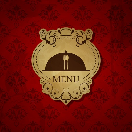 Vector vintage red menu pattern Vector