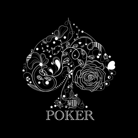 Vintage poker pattern Vector