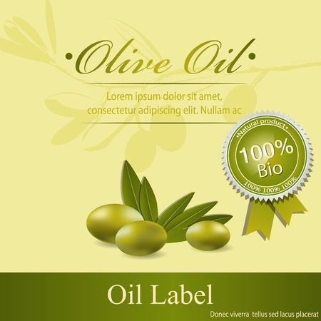 Olive oil label pattern Stock Vector - 12055279