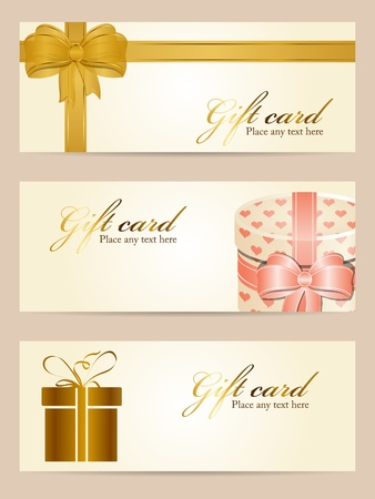 Vector set of gift cards Stock Vector - 12055280