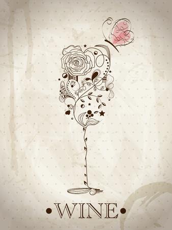 Image abstraite de verre de vin