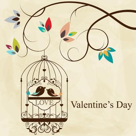 bird and tree: St. Valentine