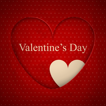 St. Valentine's greeting card Vector