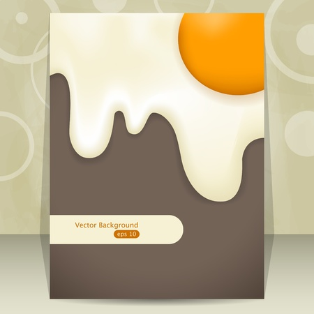 Vector cover design with fried egg Illustration