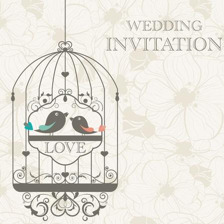 wedding: 婚禮請柬格局 向量圖像