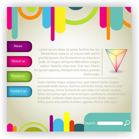 global communication: multi colored website template Illustration