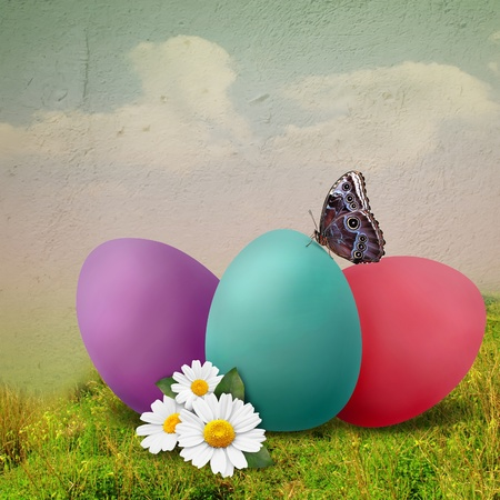 greenfield: Ester illustration with colored eggs