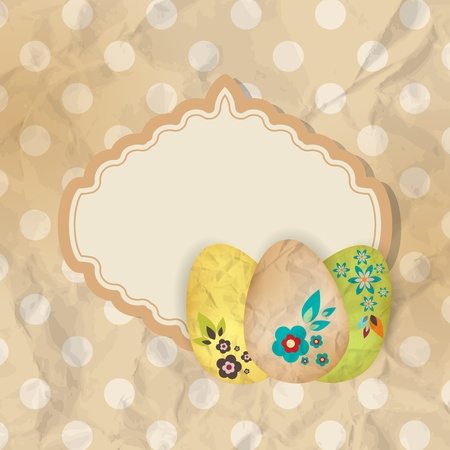 Ester greeting card with eggs Vector