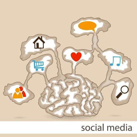 Vector social media pattern Vector