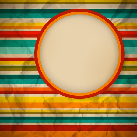 multicolor: Retro stilized brochure design