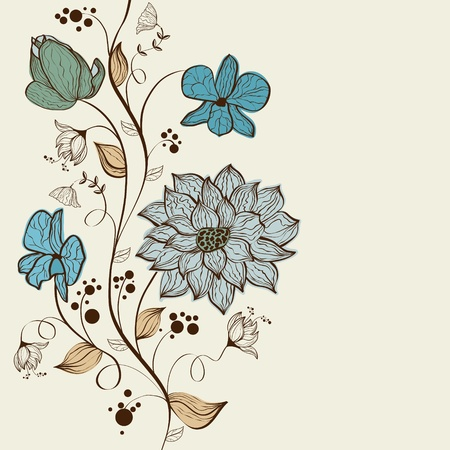 swirly: Vector floral background design