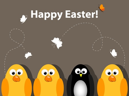 funny easter: Vector Easter greeting card
