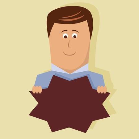 Vector business man with space for your text Stock Vector - 12595148