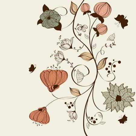Vector floral background design