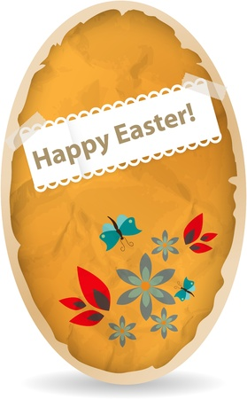 Easter greeting card with paper eggs Vector
