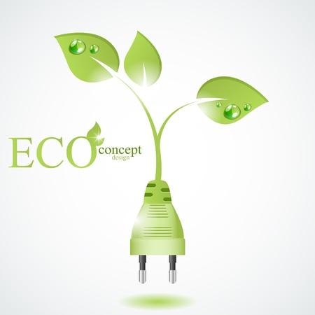 sostenibilit�: Concetto di design eco Vettoriali