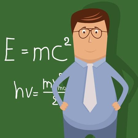 maestra ense�ando: Ilustraci�n vectorial con el maestro de la escuela Vectores