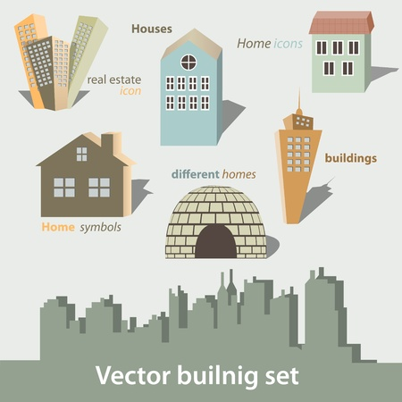 Vector buildings set Stock Vector - 13092587