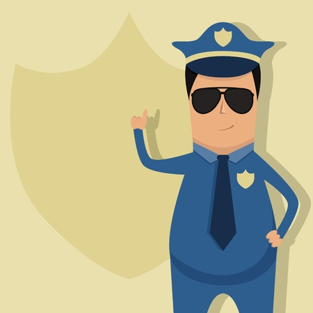 Vector pattern for police announcement Vector