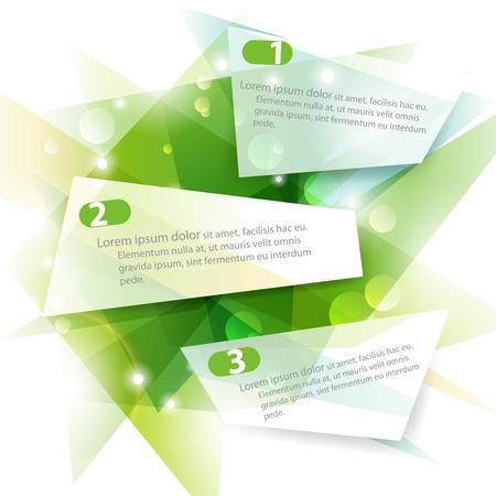 Three green vector banners Vector