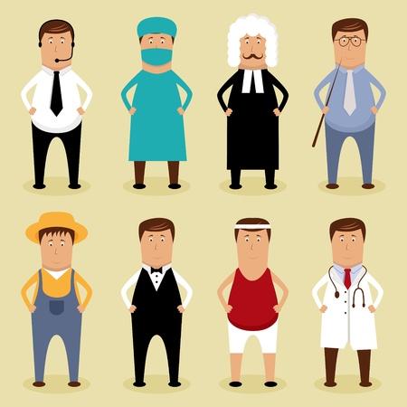 doctor dibujo animado: Vector conjunto de los trabajadores
