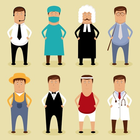 occupations and work: Vector worker set Illustration