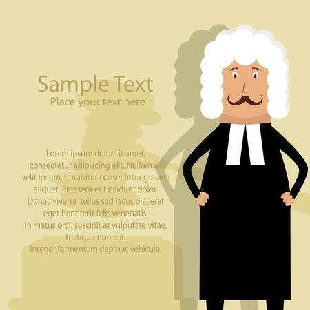 Vector de imagen con el juez