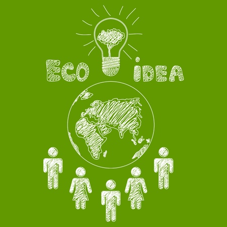 responsible: Vector hand drawn ecology design