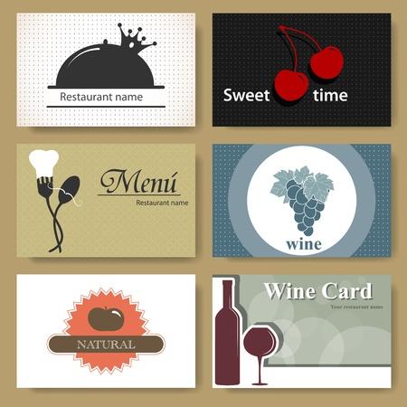 Set of business cards for restaurants