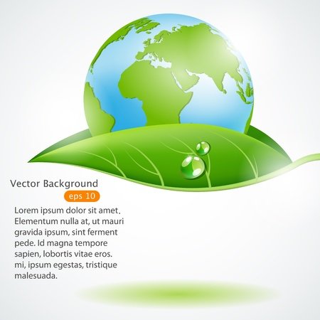 eco concept design Vector