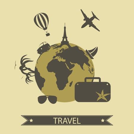 icônes de voyage Vecteurs