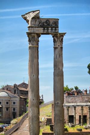 fluting: Foro romano, Rome, Italy Stock Photo