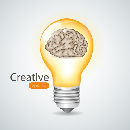 power consumption: idea bulb Illustration