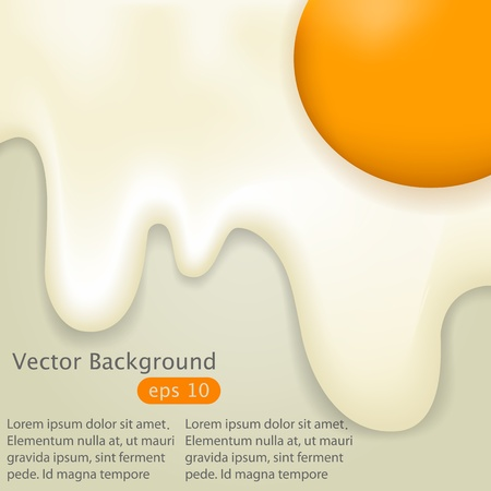 cover design with fried egg Stock Vector - 14479190