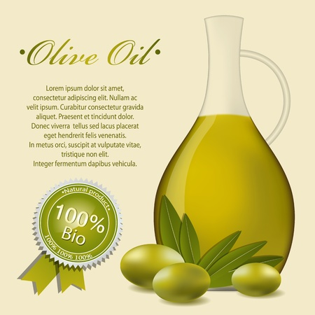 Olive oil label pattern Vector