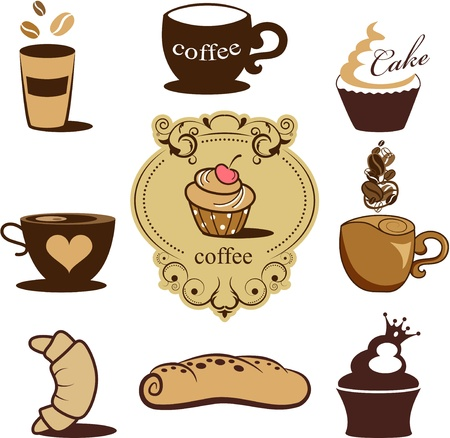 bakery icons Stock Vector - 14661594