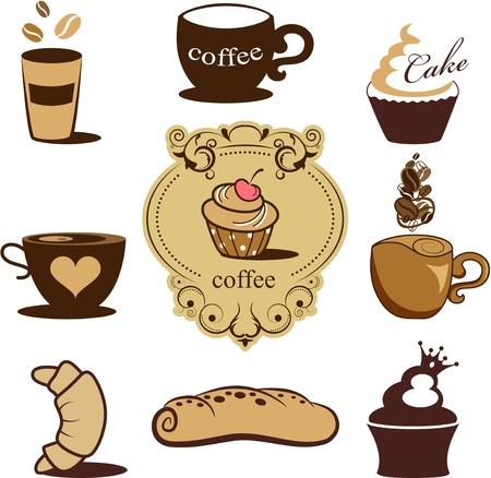 bakery icons Ilustracja