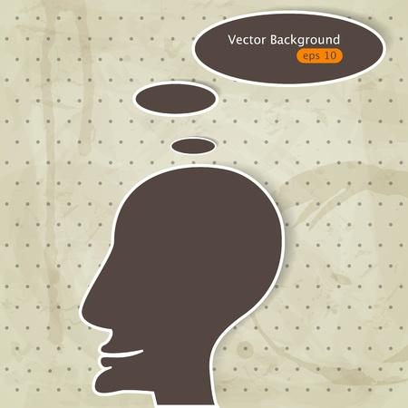 mental confusion: illustration with man Illustration