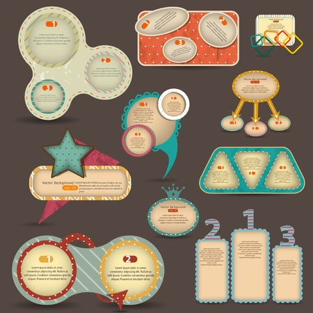 Victor vintage web design elements Vector