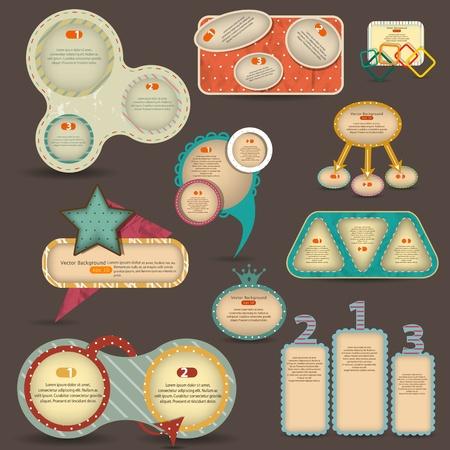 inforgraphic: Victor vintage web design elements